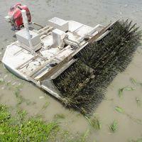 ブラシローラー型水田除草ロボット